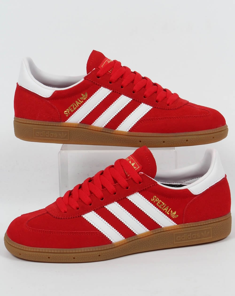 adidas Trainers Adidas Spezial Trainers Red White b95e88353