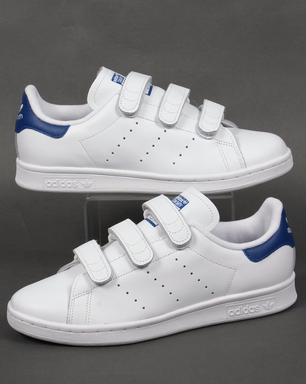 super popular c585b 88fb3 Adidas Stan Smith CF Trainers White/Royal Blue