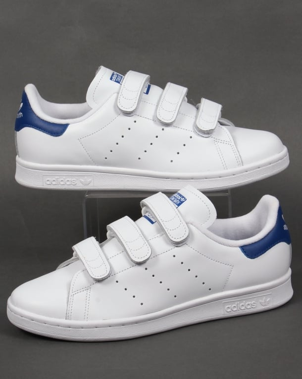 Adidas Stan Smith CF Trainers White/Royal Blue