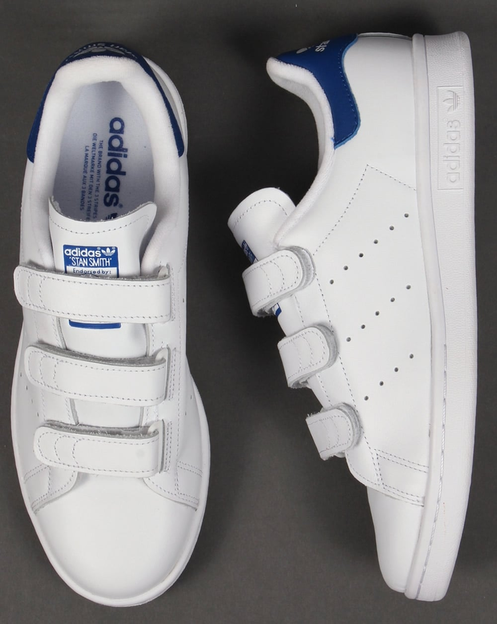 7c0d52b4495ff Adidas Trainers Adidas Stan Smith CF Trainers WhiteRoyal Blue