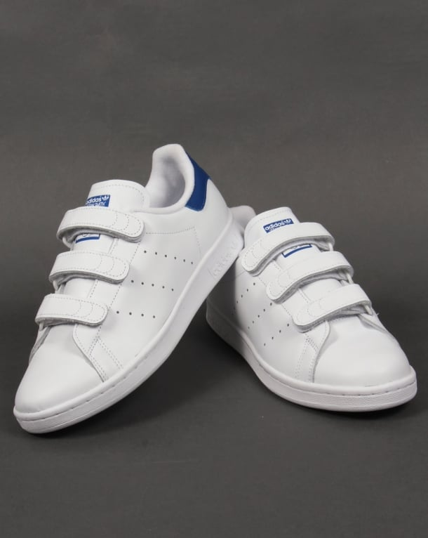 70b866961d5b Adidas Stan Smith CF Trainers White Royal Blue