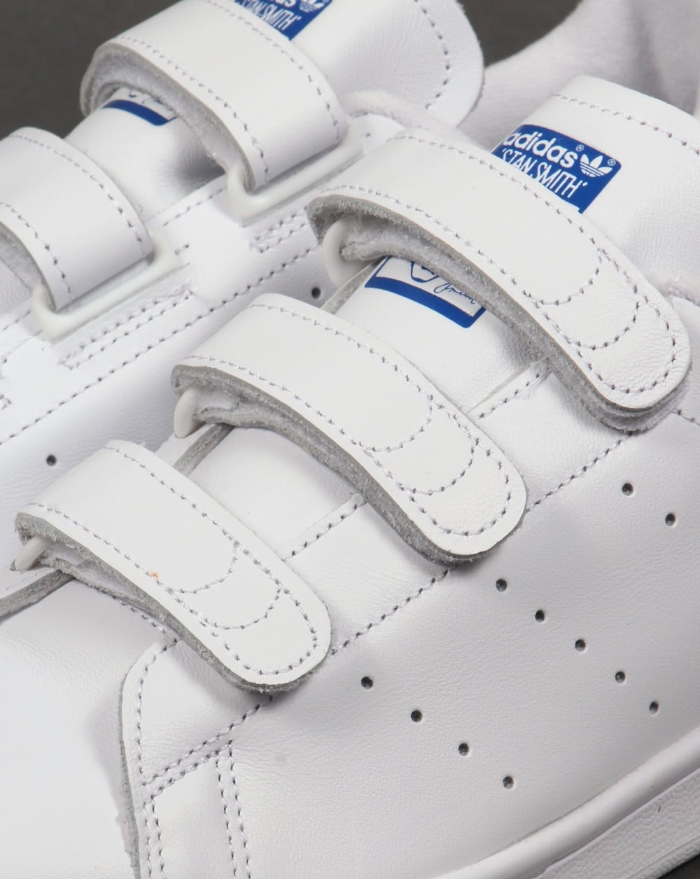 Adidas Stan Smith CF Trainers White Royal Blue f8992702a