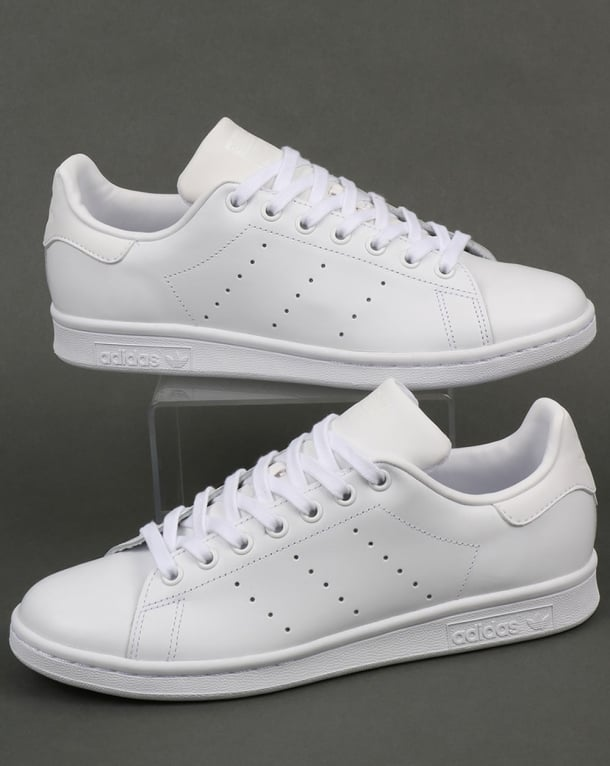Adidas Stan Smith Trainers Triple White leather | 80s ... Caterpillar Shoes