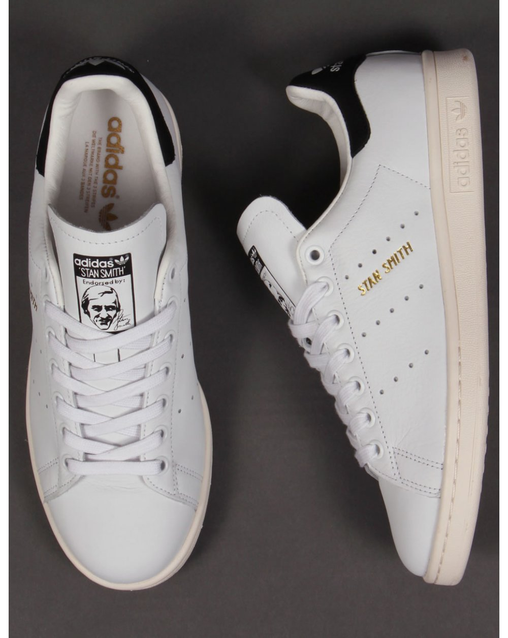 adidas black stan smith trainers