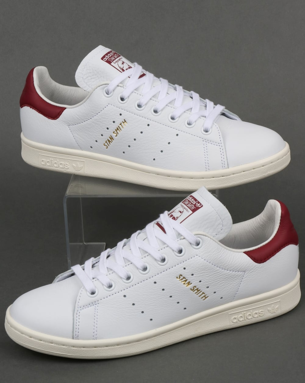 Adidas Stan Smith Trainers WhiteBurgundy