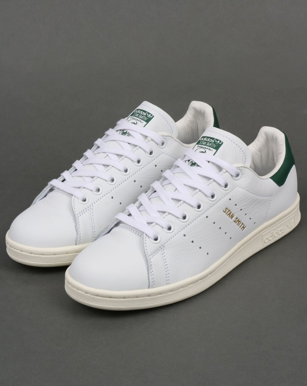 regard détaillé d8bdf 87abb Adidas Stan Smith Trainers White/Collegiate Green