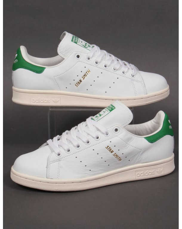 Adidas Stan Smith White Green Mens Trainers