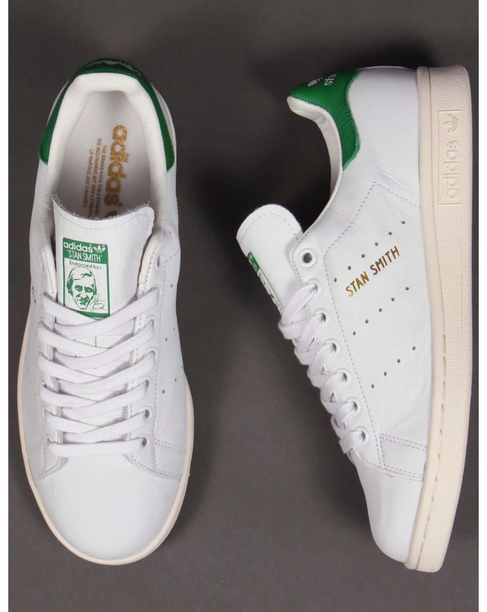 Adidas Stan Smith Trainers White/green/gold,originals ...