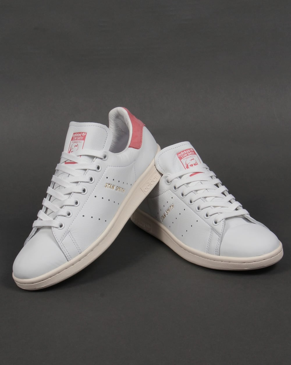 cheap for discount a6c56 e963d Adidas Stan Smith Trainers White/Pink