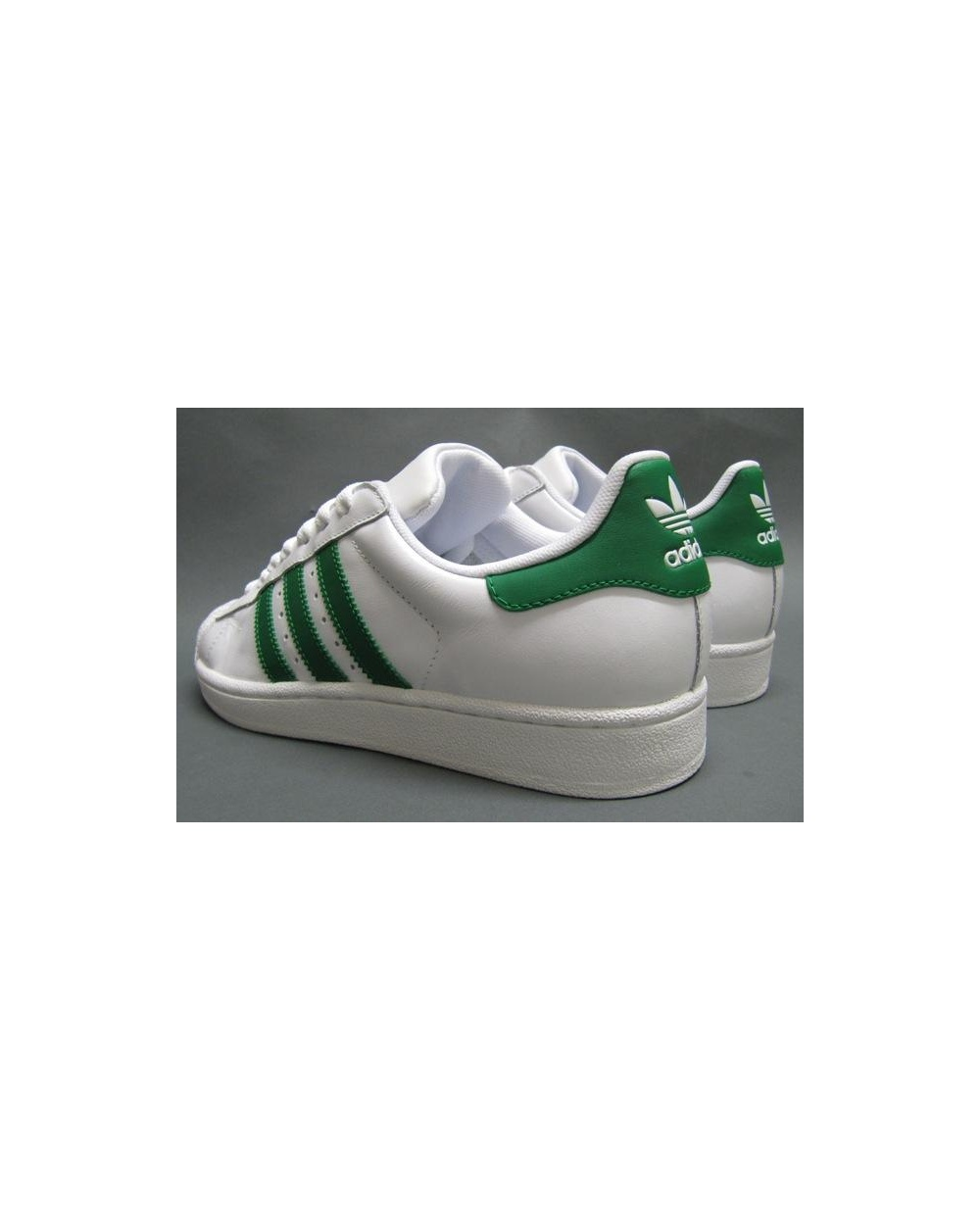 watch dbb25 d683a Adidas Superstar White With Green Stripes aoriginal.co.uk