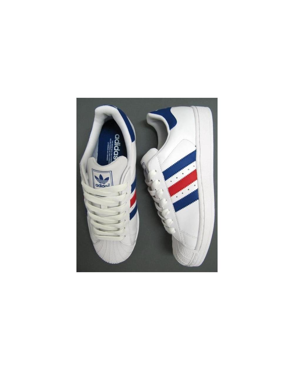 Adidas Superstar 2 Bleu Blanc Rouge WJtZrIZ