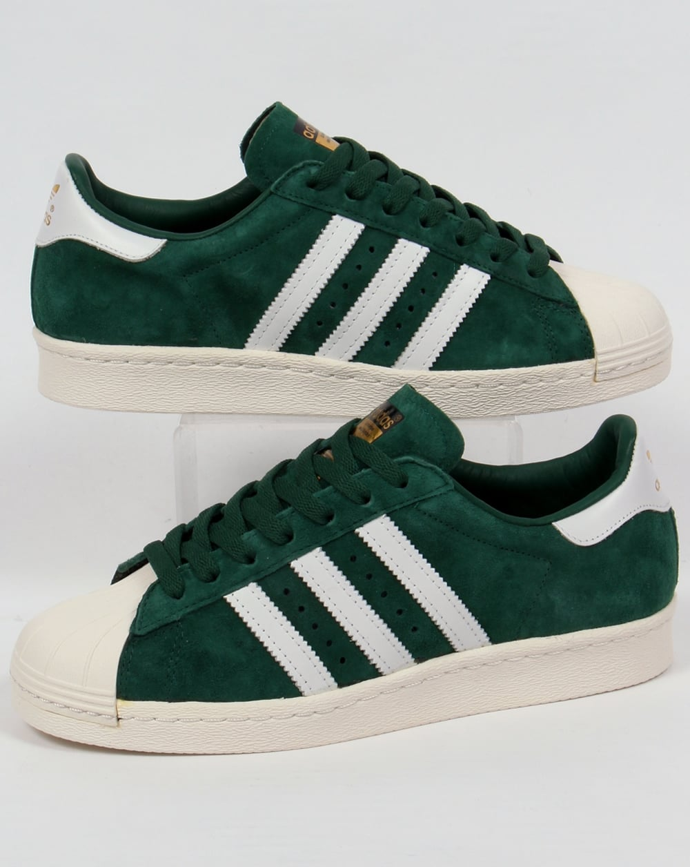 87c1950f19c09d adidas Trainers Adidas Superstar 80s Deluxe Trainers Dark Green White