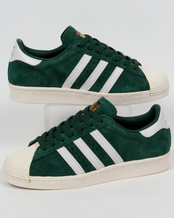 Adidas Superstar 80s Deluxe Trainers Dark Green/White