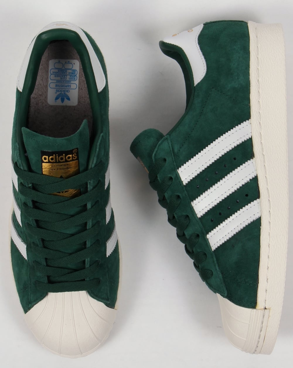 the latest 1cc56 a3bcd Adidas Superstar 80s Deluxe Trainers Dark Green White