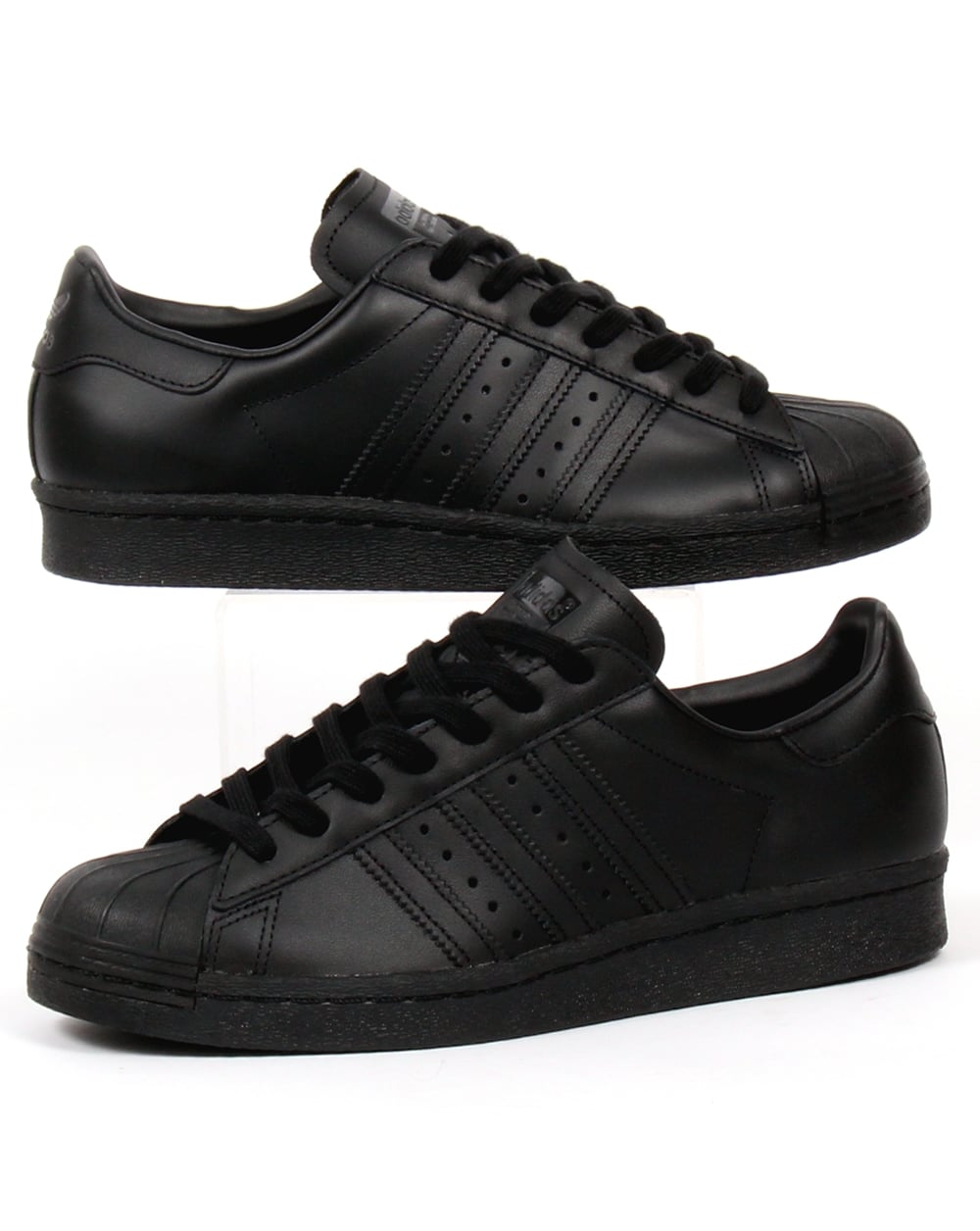 adidas superstar all black mens