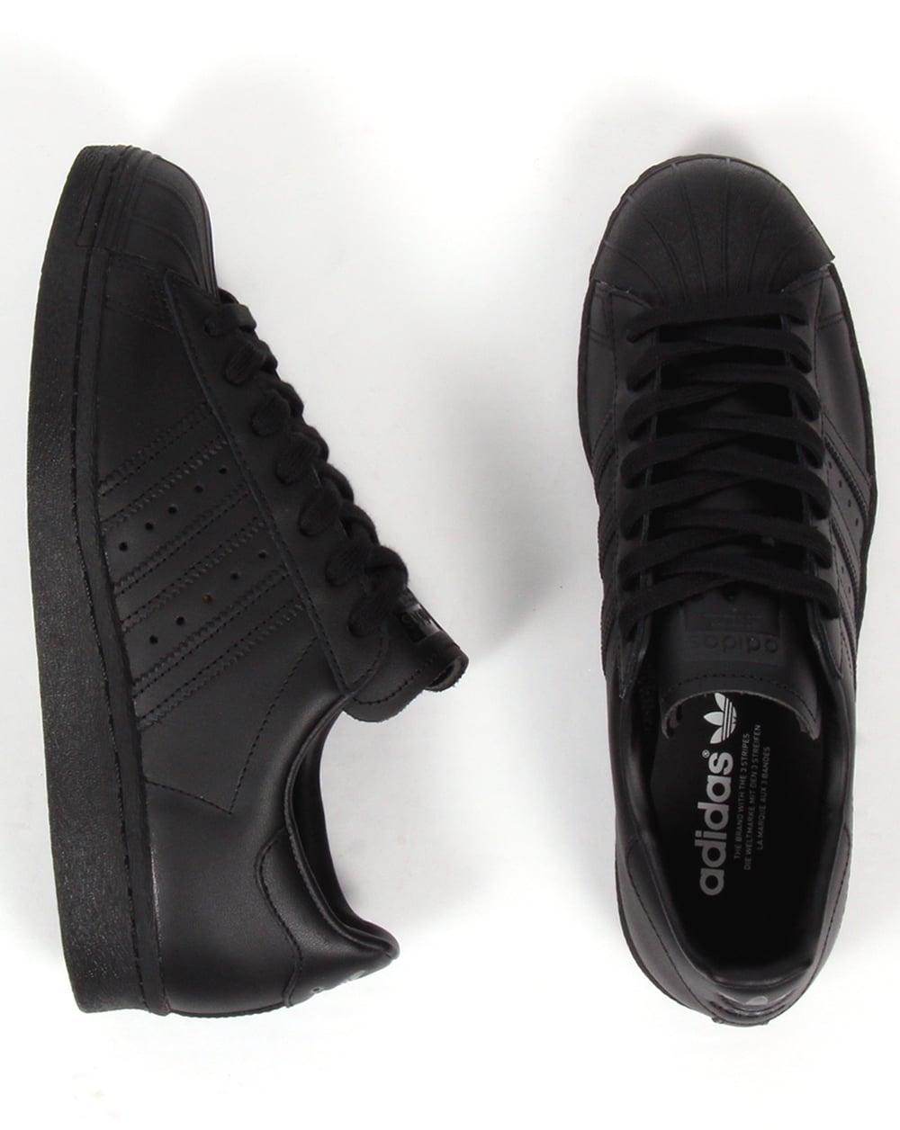 best website d39dc 4b6e3 Adidas Superstar 80s Trainers Black/black