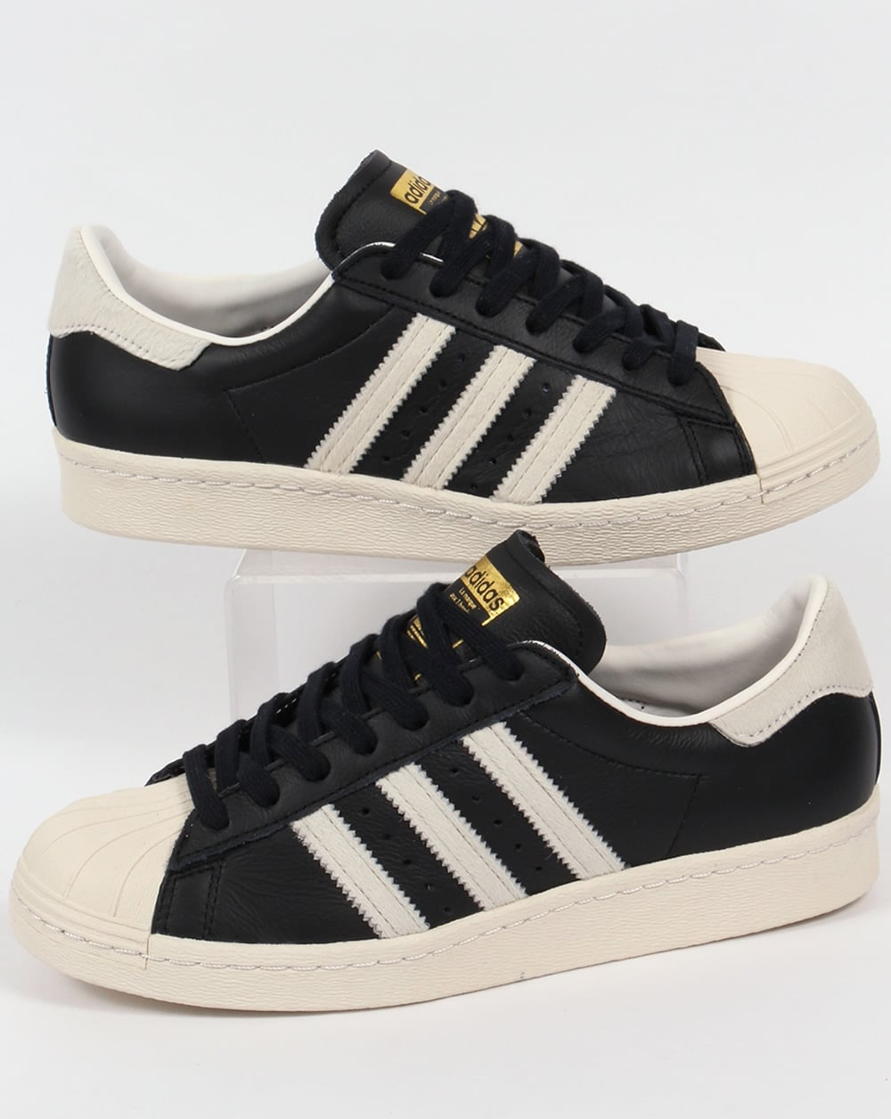 adidas superstar 80s trainers blackwhitegoldoriginals