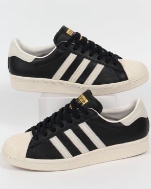 adidas Trainers Adidas Superstar 80s Trainers Black/White/Gold