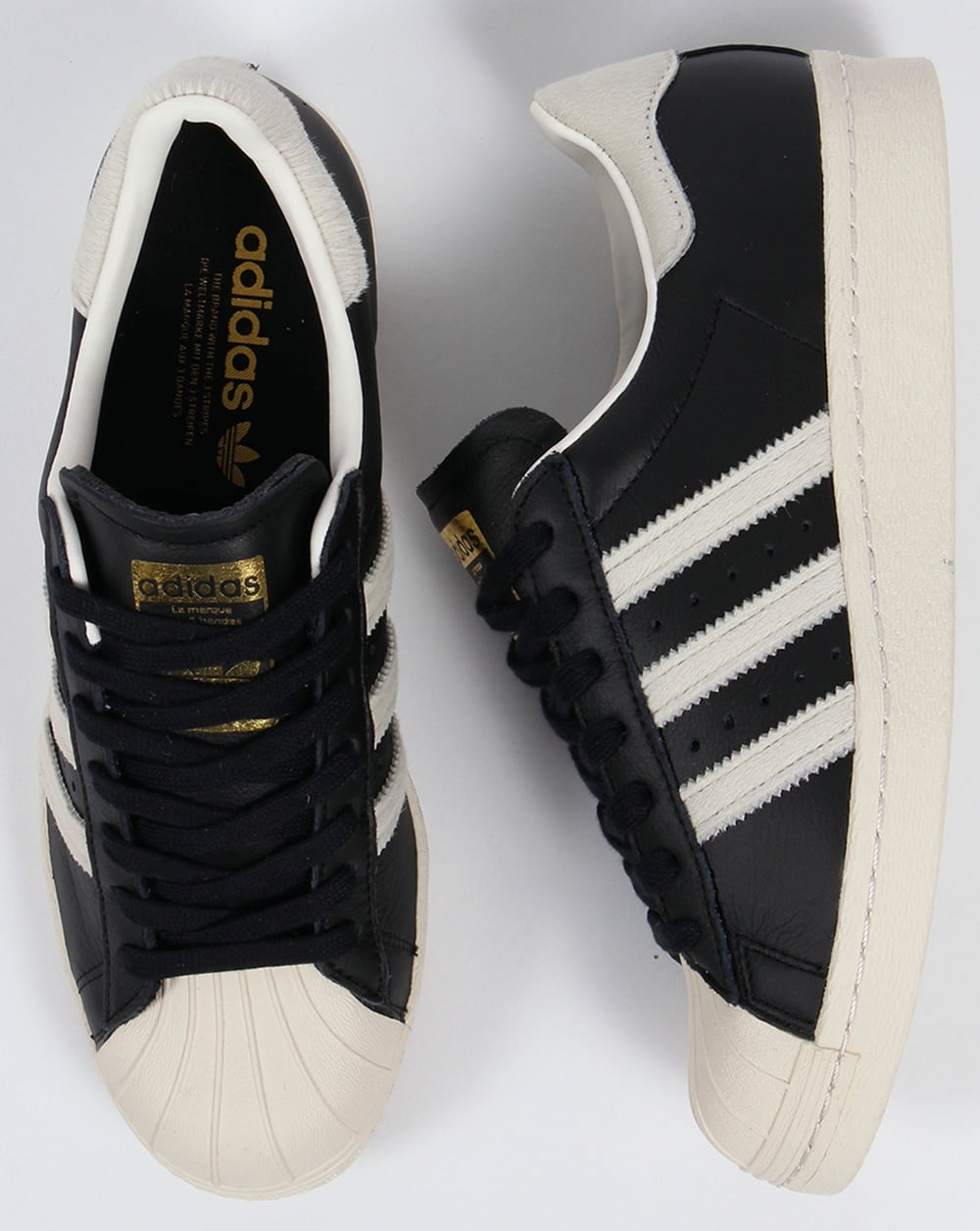 2d27519eb1 Adidas Superstar 80s Trainers Black/White/Gold