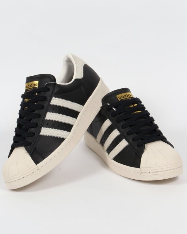 adidas superstar ii (black/white/gold)
