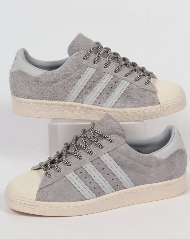 Adidas Superstar 80s Trainers Clear Onix Grey