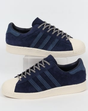 Adidas Trainers Adidas Superstar 80s Trainers Navy/Mineral Blue/White