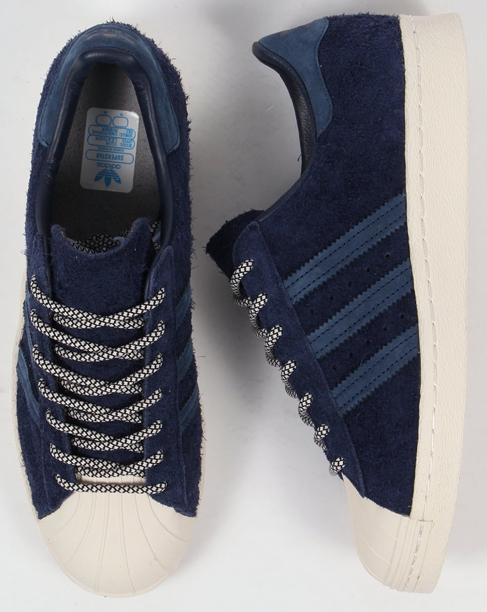 official photos c12d2 78f37 Adidas Superstar 80s Trainers Navy/Mineral Blue/White