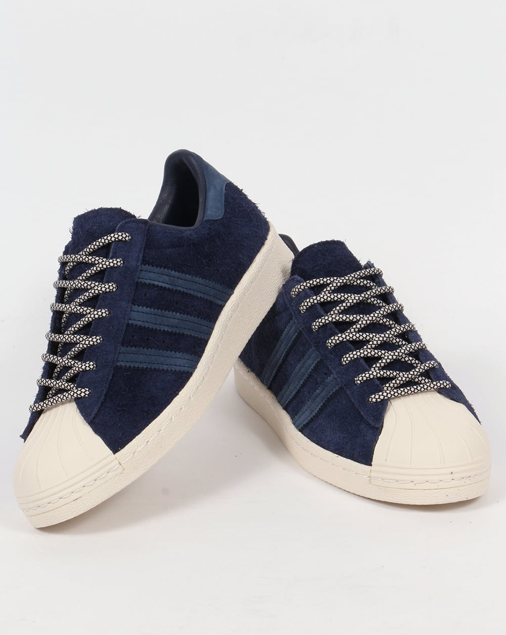 df1e6da209a9 Adidas Superstar 80s Trainers Navy Mineral Blue White