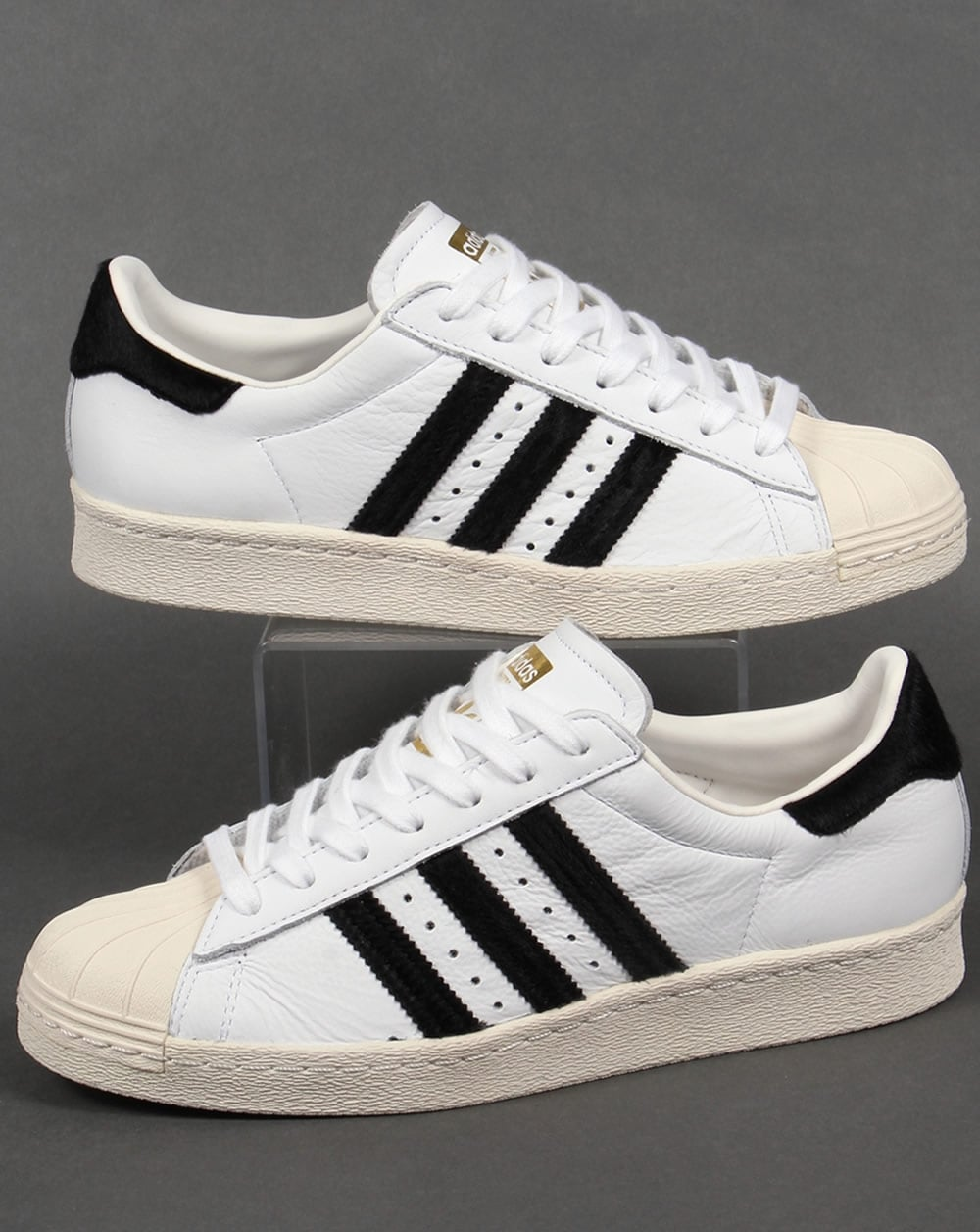 low priced ef117 8e39b adidas Trainers Adidas Superstar 80s Trainers White Black Gold