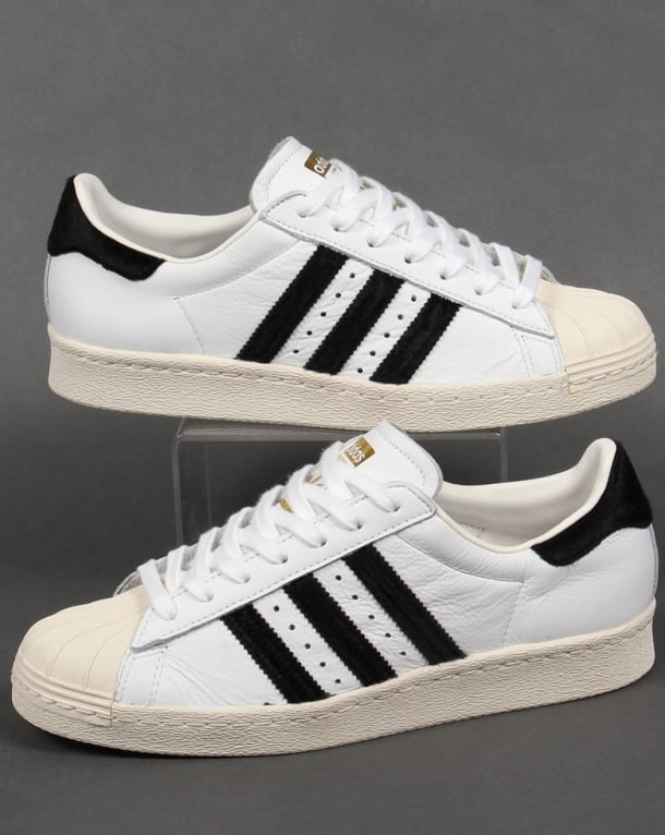 Adidas Superstar 80s Trainers White/Black/Gold