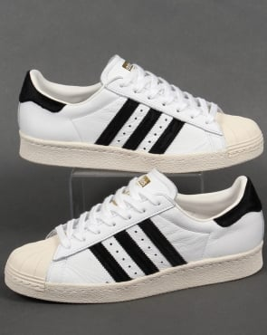 adidas Trainers Adidas Superstar 80s Trainers White/Black/Gold