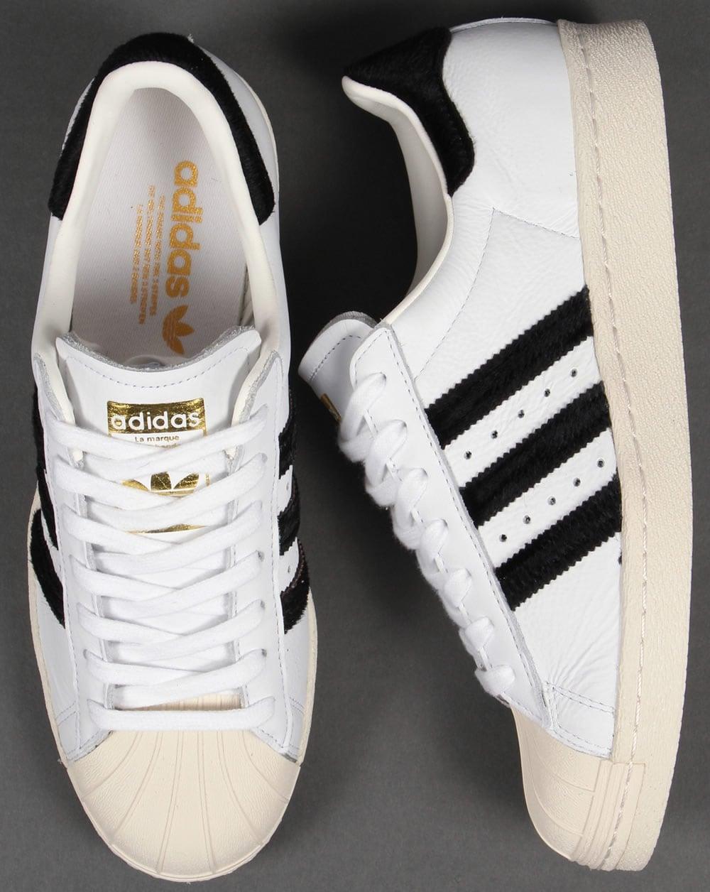 Adidas Superstar Degli Anni '80 In Bianco Pony Bianco ap0t5