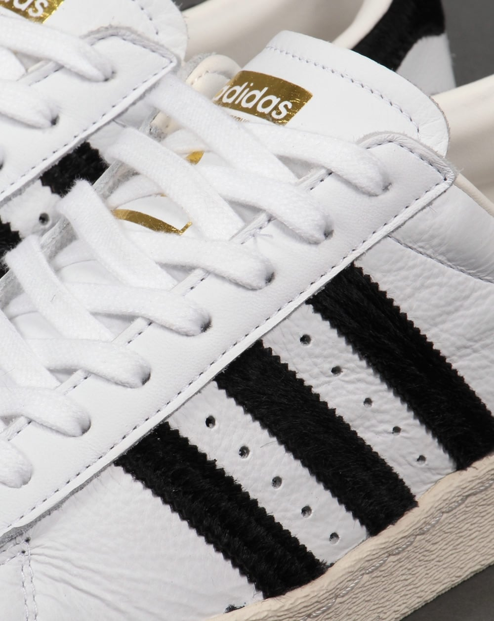 Adidas Superstar Black And White Gold