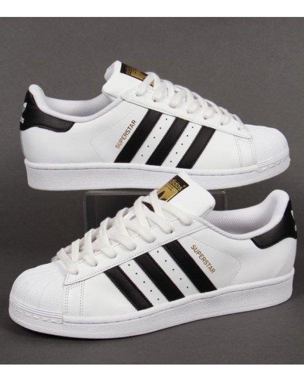 Adidas Superstar Black And White Stripes