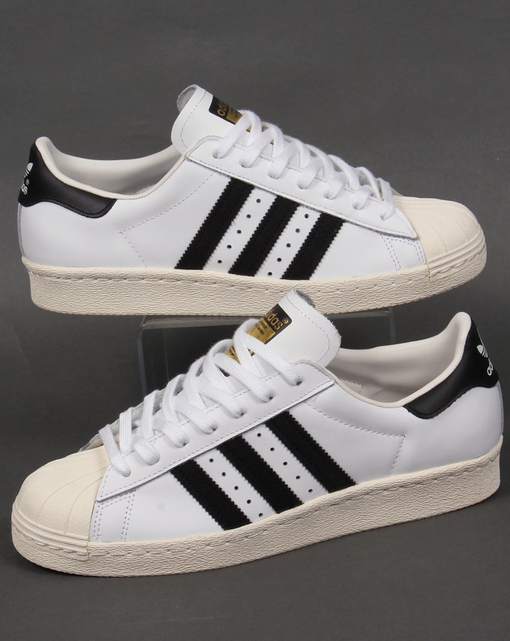 the latest 97b27 d18bf Adidas Superstar 80s Trainers White/Black