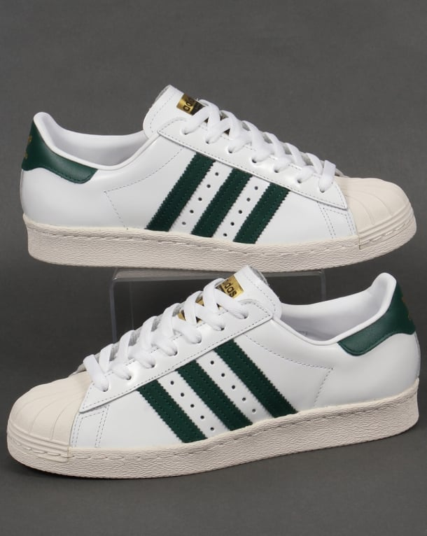 adidas superstar green stripes