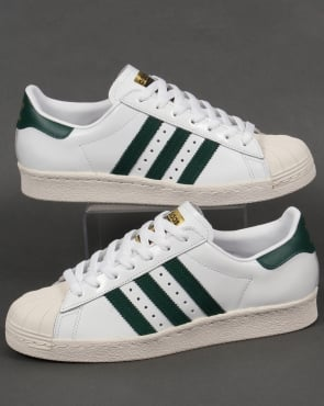 adidas Trainers Adidas Superstar 80s Trainers White/Green