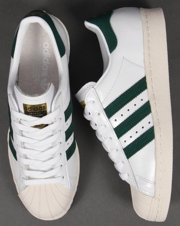 adidas superstar 80s green white