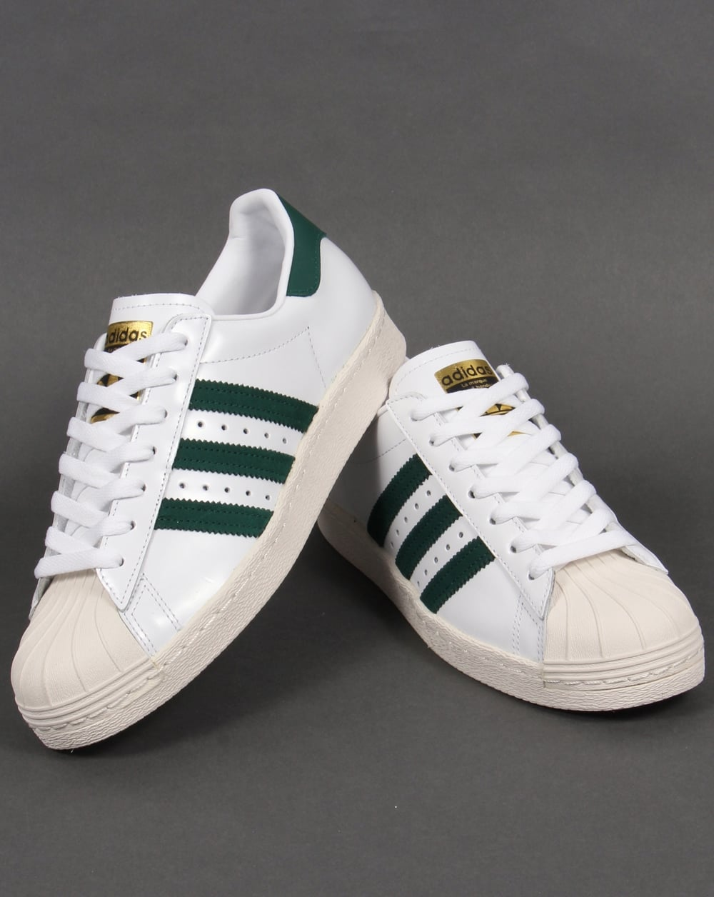 65d1e982461049 Adidas Superstar 80s Trainers White Green