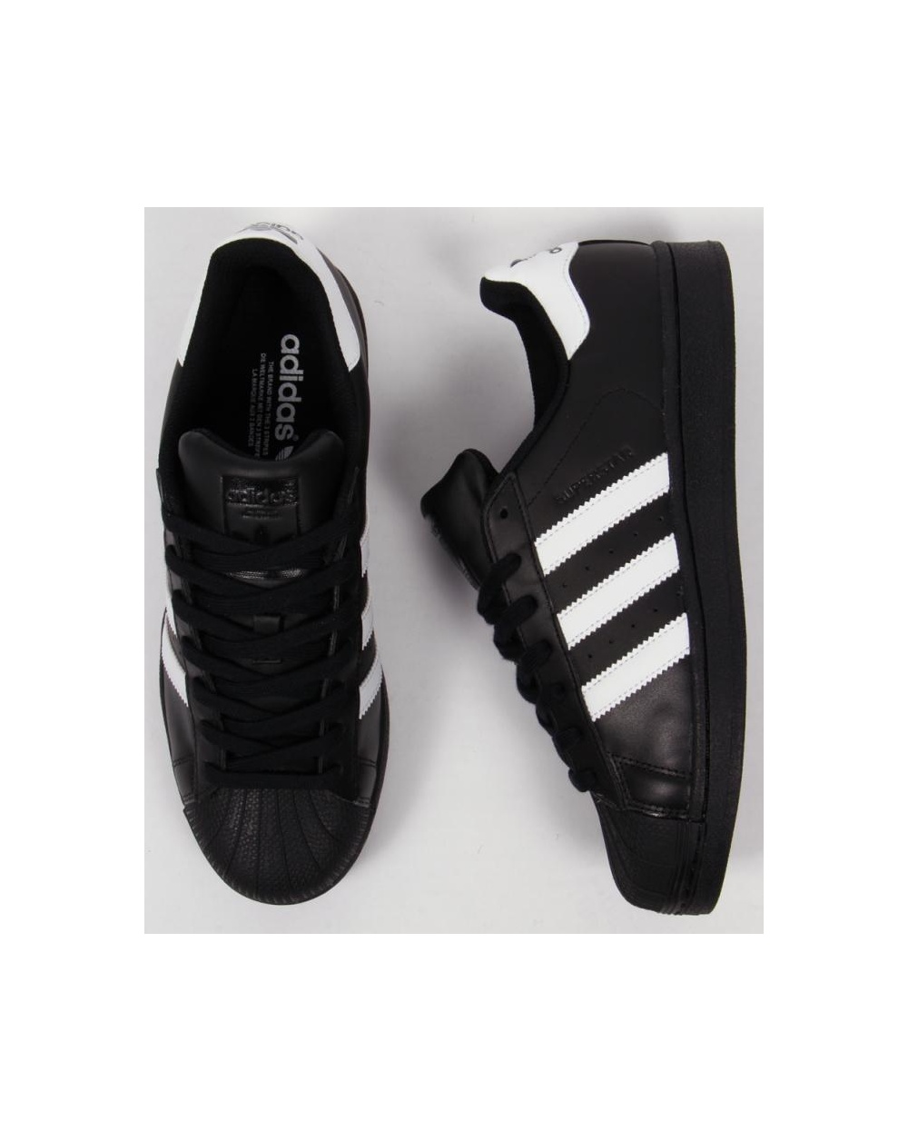 Menns Adidas Black & White Super Foundation Trenere N0Srj0tE