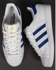 Adidas Superstar Foundation Trainers White/royal Blue