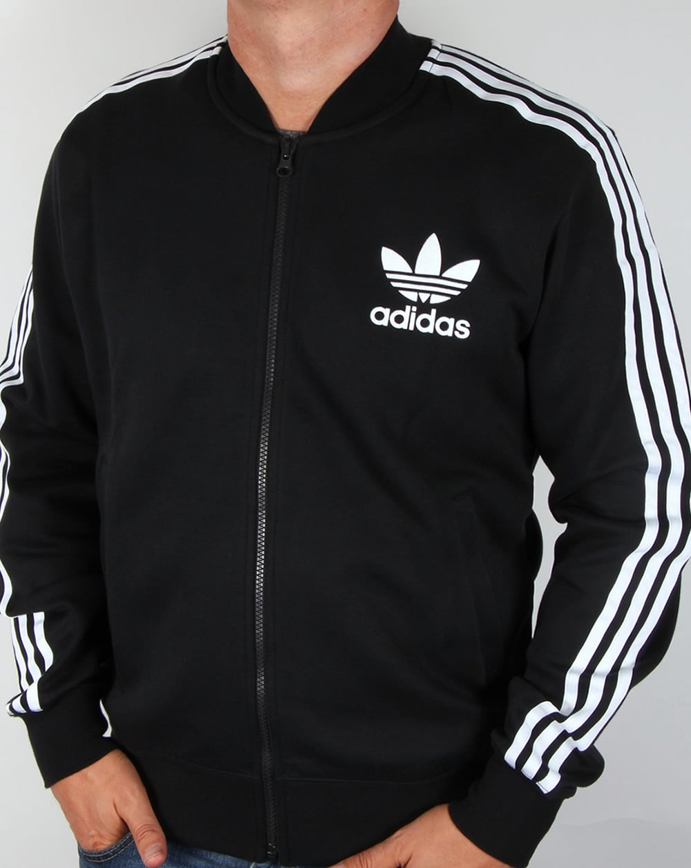adidas originals adicolor track top black tracksuit jacket. Black Bedroom Furniture Sets. Home Design Ideas