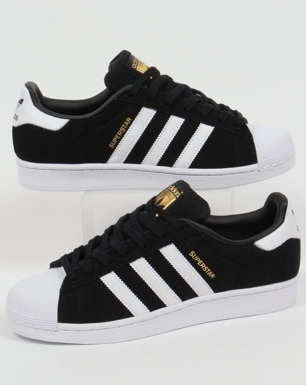 Adidas Superstar Suede Trainers Black/white
