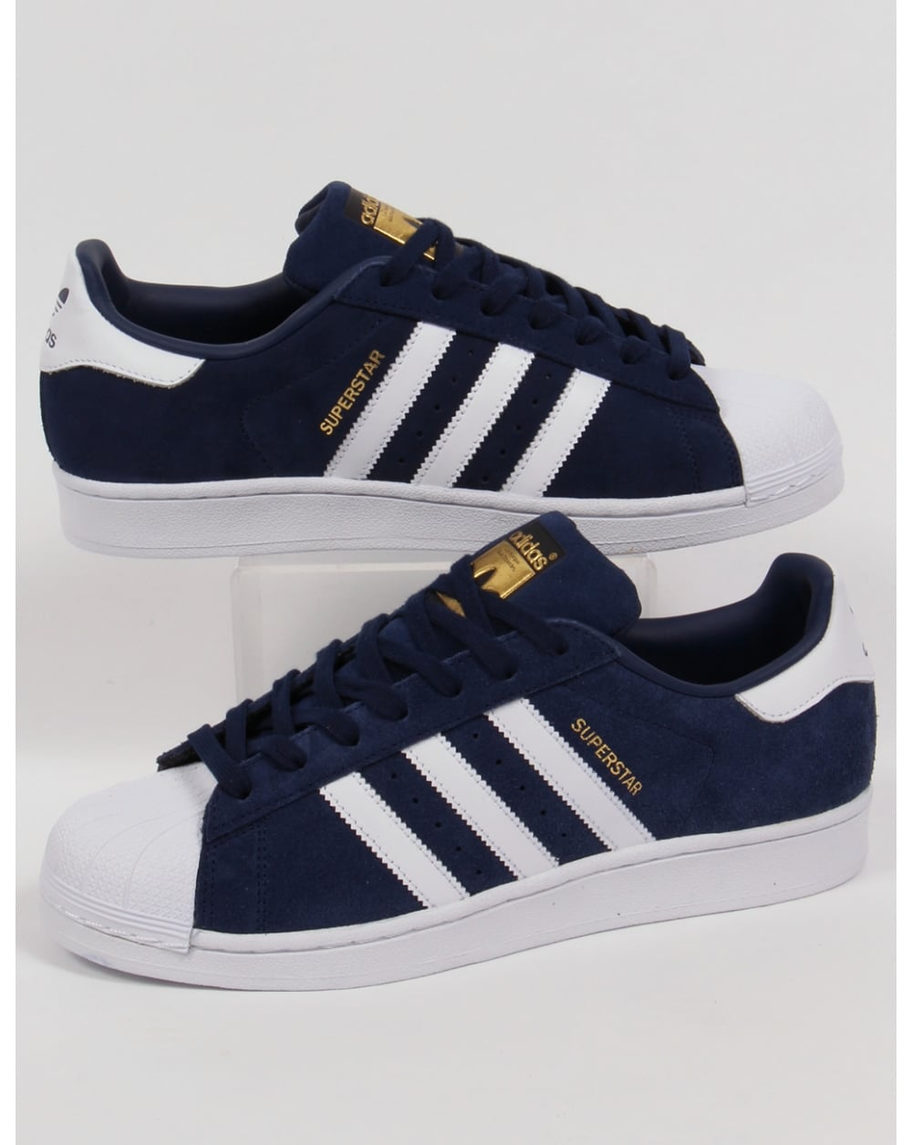 adidas Trainers Adidas Superstar Suede Trainers Navy white d30529cfe