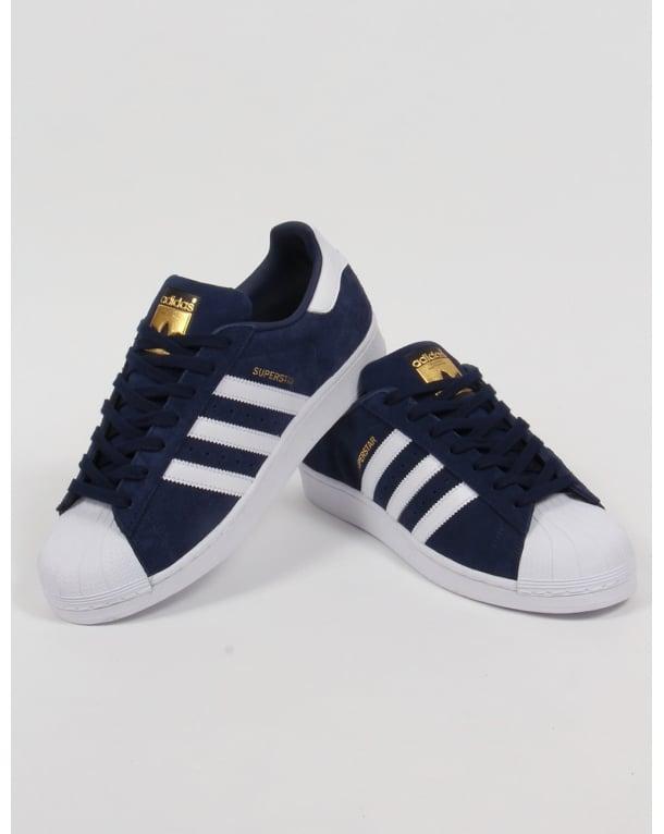 Adidas Superstar Suede Trainers Navy