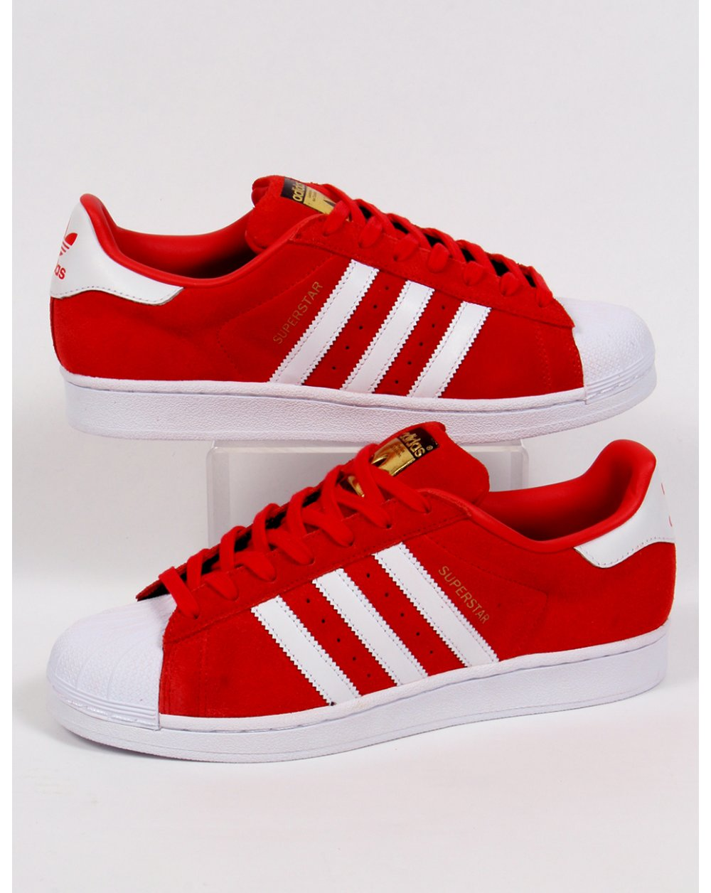 adidas superstar red and white