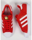 Adidas Superstar Suede Trainers Red/white