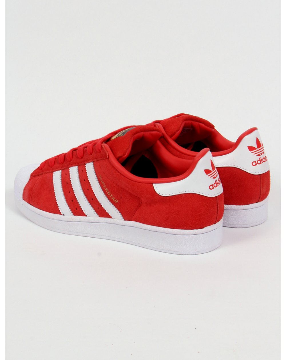 Adidas Superstar Suede Red White Sale