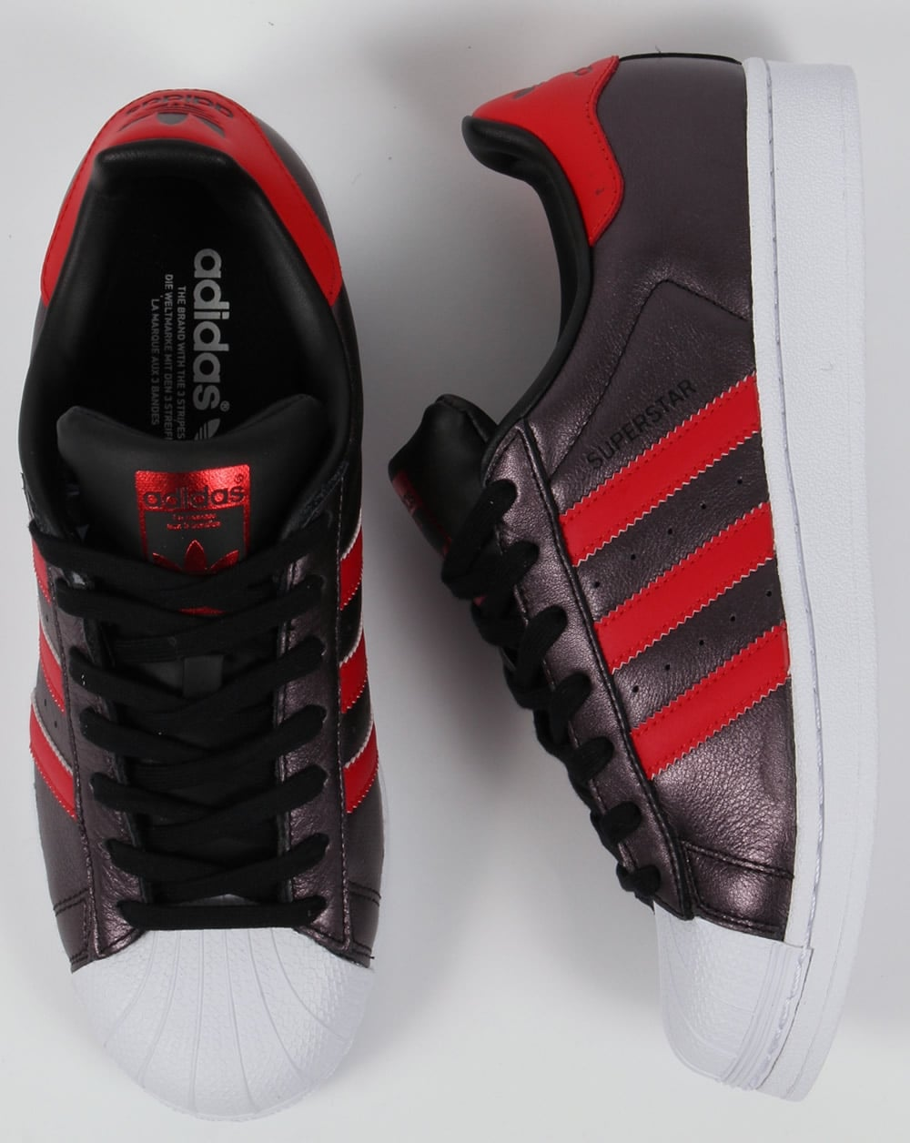 Adidas Superstar Rojo Negro cth3v