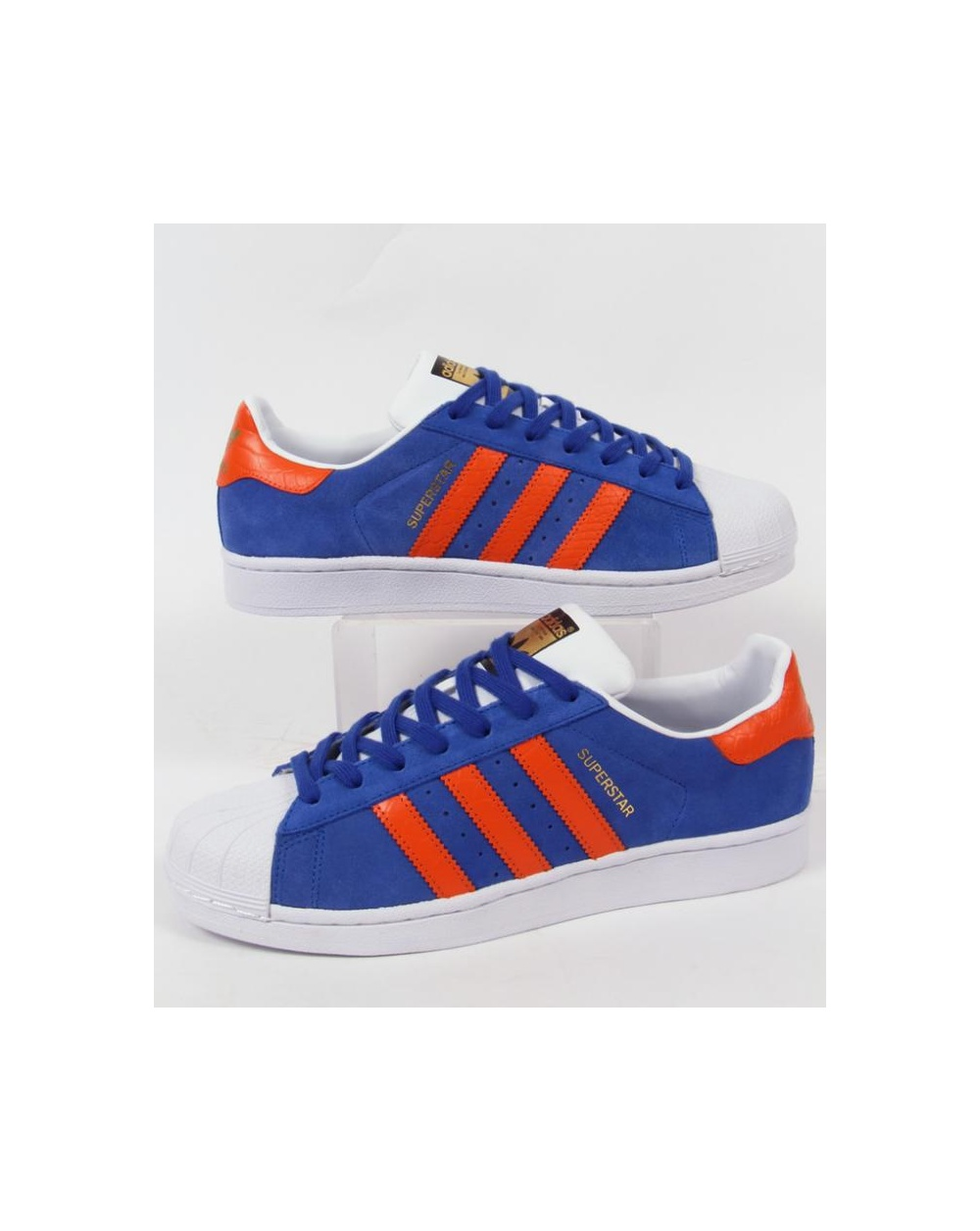 Adidas Superstar Blue And Orange